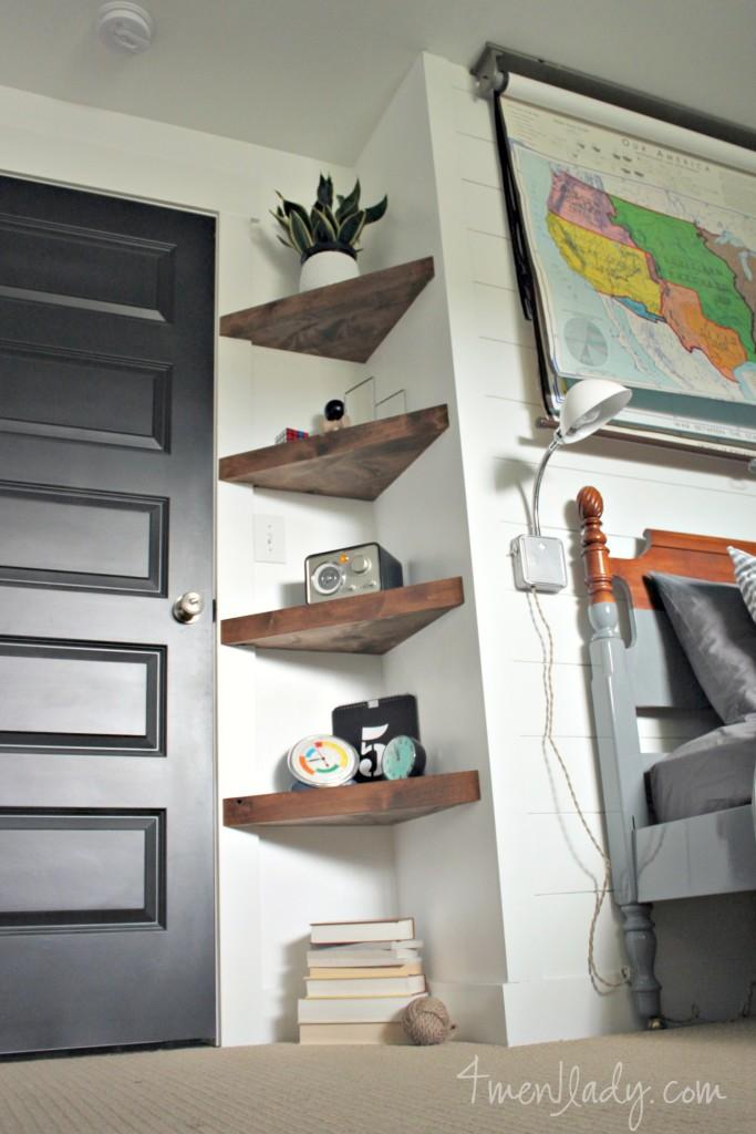 Triangle-corner-floating-shelf