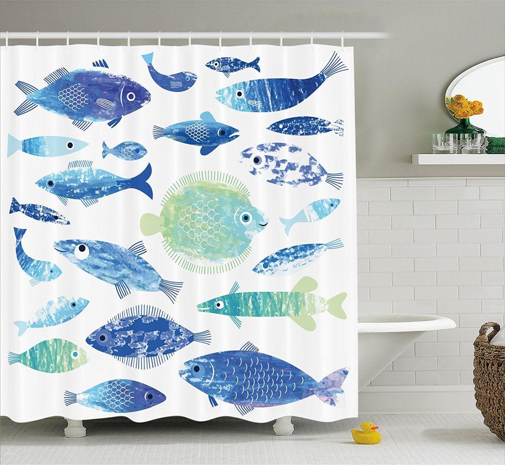 Fish-shower-curtain-for-kids-bathroom
