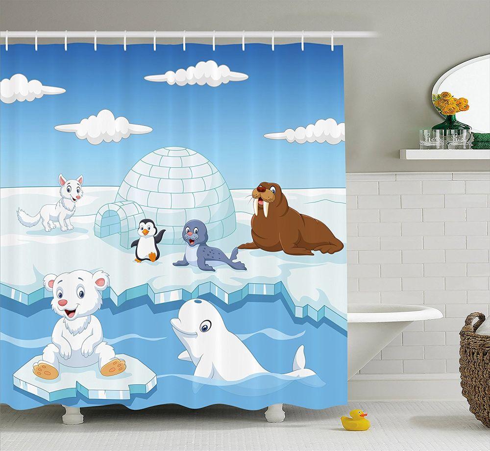 Image-of-Arctics-Animals-Polar-Bears-Seal-Penguins-Wolfs-Whales-Artwork