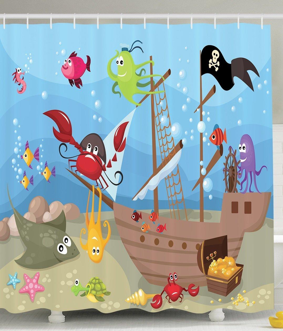 Ocean-Octopus-Treasure-Sunken-Ship-Pirate-Sail-Boat-Ahoy