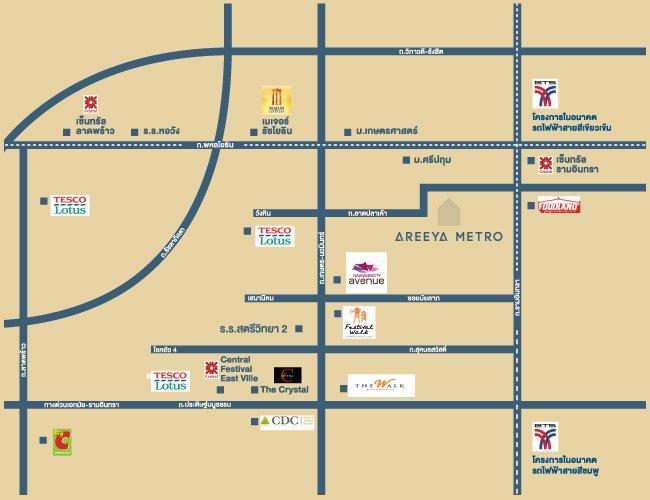 pic-map-Areeya-Metro_kaset-nawamine