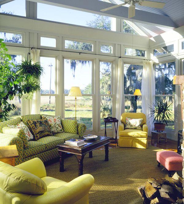 high-ceiling-sunroom