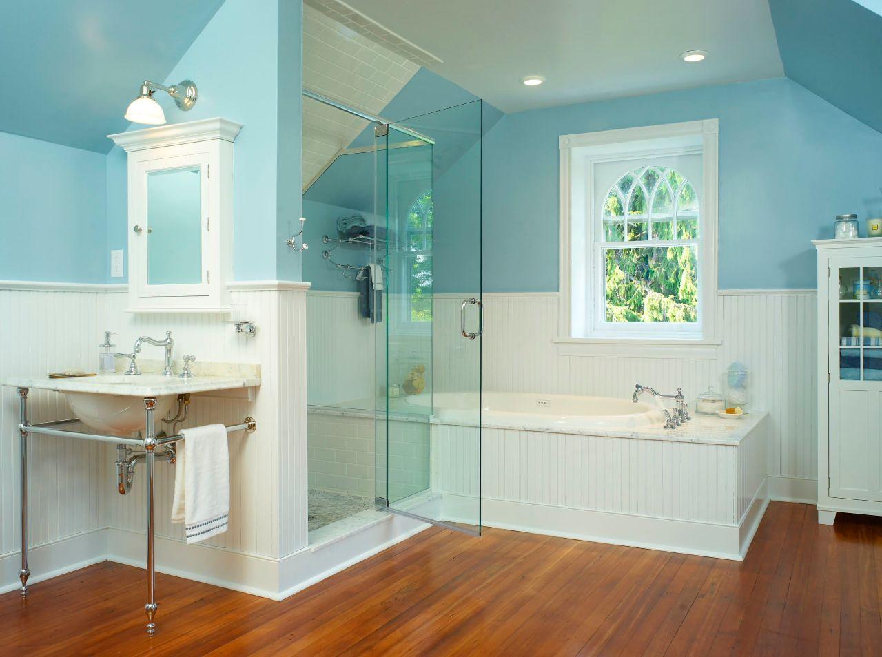 Bathroom-with-half-bathroom-beadboard