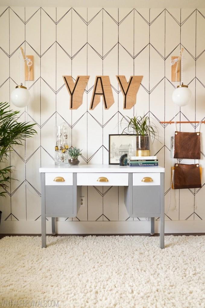 DIY-sharpie-wallpaper-accent-wall