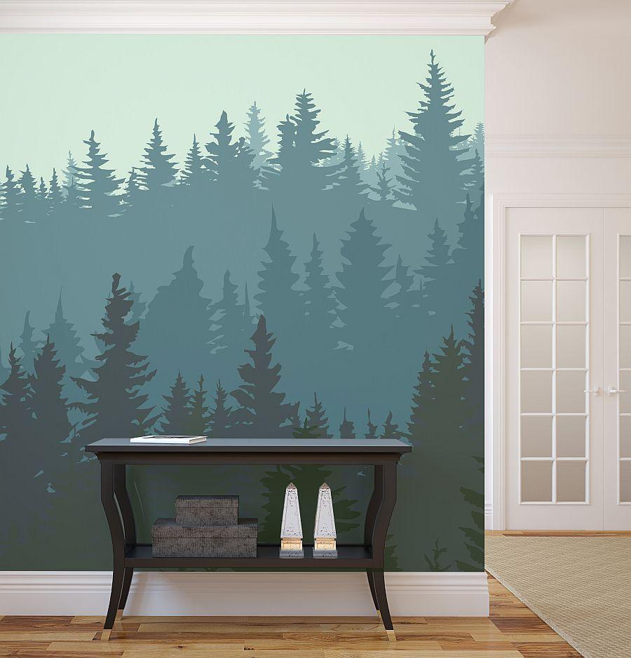 wall-murals-forest-winter
